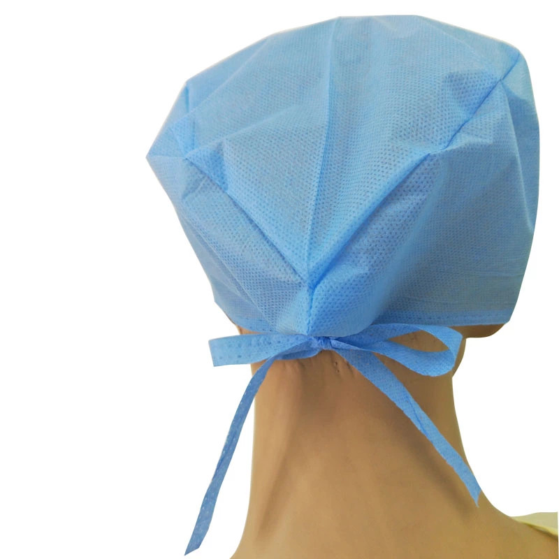 Disposable Surgical Cap with Tie And Elastic for Doctors
