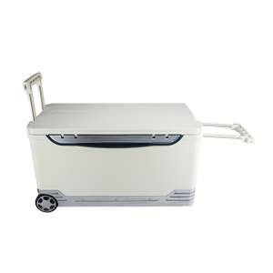 68L Vaccine Transport Cooler Box With Wheels And Trolley