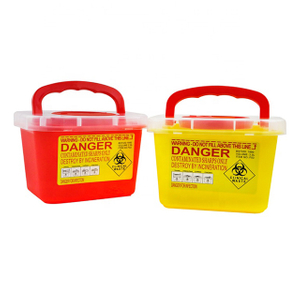 3L Hospital Plastic Safety Sharp Container with Portable Lid