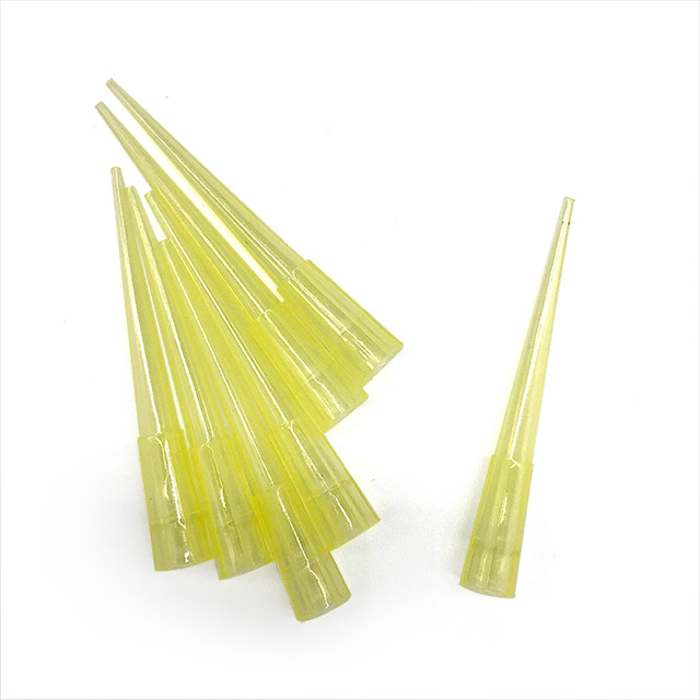 Disposable Sterile Plastic Yellow 200ml Filter Pipette Tips