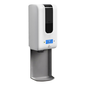 1200ml Wall Mounted Automatic Hand Sanitizer Temperature Measuring Soap Dispenser